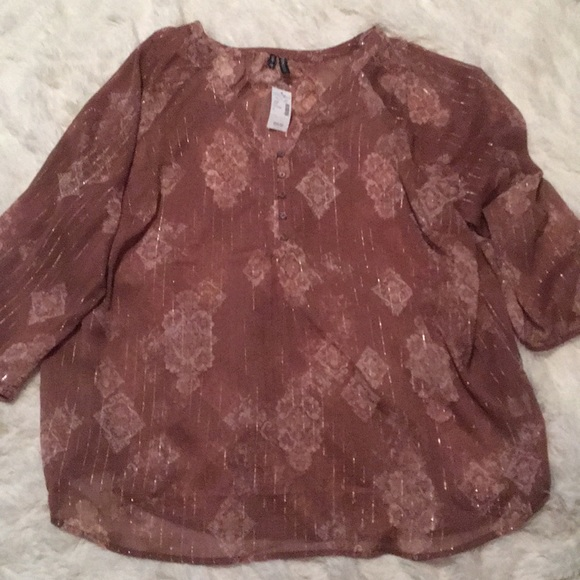 205be94edc2ef Mauve top with gold and light pink design
